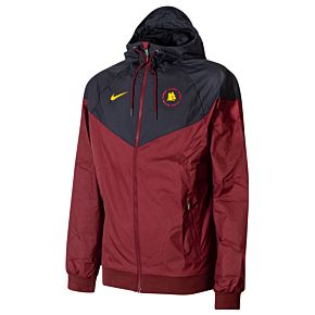 20-21 AS Roma Authentic Windrunner Jacket - Red/Black