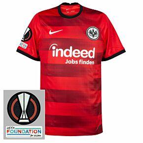 21-22 Eintracht Frankfurt Away Shirt + Europa League Patches