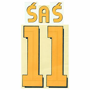Sas 11 - 03-04 Galatasaray Home/Away Official Name and Number Transfer