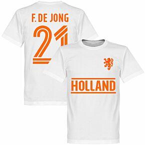 Holland F. De Jong Team T-Shirt - White