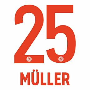 Müller 25 (Official Printing) - 20-21 Bayern Munich Away