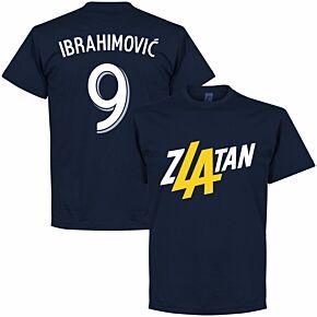 Zlatan Ibrahimovic 9 LA KIDS T-Shirt - Navy