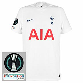 21-22 Tottenham Dri-Fit ADV Match Home Shirt + UEFA Conference & Foundation Patches