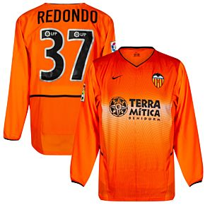Nike Valencia CF 2002-2003 Away L/S Jersey - NEW Condition - Player Issue - REDONDO #37 - Size M