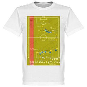 Pennarello Carlos Alberto 1970 Classic Goal Tee - White
