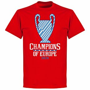 Bayern 2020 Champions of Europe KIDS T-shirt - Red