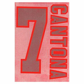Cantona 7 - 95-96 Away Style Flock Name and Number Transfer