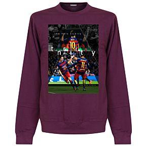Barcelona The Holy Trinity Sweatshirt - Plum