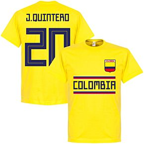 Colombia J.Quintero 13 Team Tee - Yellow