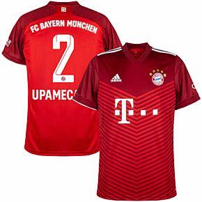 21-22 FC Bayern Munich Home Shirt + Upamecano 2 (Official Printing)