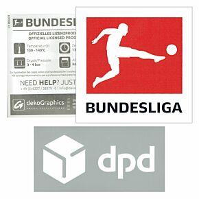 Bundesliga Patch + DPD Sleeve Patches - 21-22 Eintracht Frankfurt Away (White)