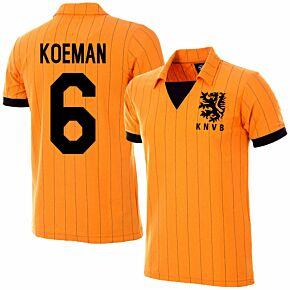 1983 Holland Home Retro Jersey + Koeman 6 (Retro Flock Printing)