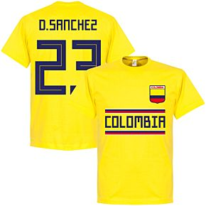 Colombia D. Sanchez 23 Team Tee - Yellow