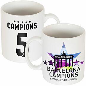 Barcelona 5 Star Winners Mug