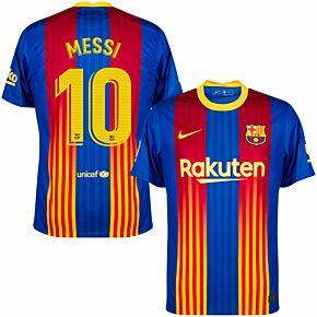 20-21 Barcelona 4th Shirt + Messi 10 (Match Pro Printing)
