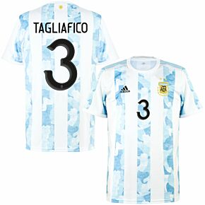 2021 Argentina Home Shirt + Tagliafico 3 (Official Printing)