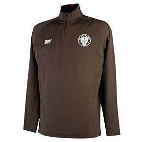 21-22 St Pauli Team 1/4 Zip L/S Drill Top - Brown