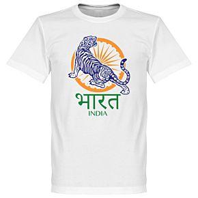India Crest Tee - White