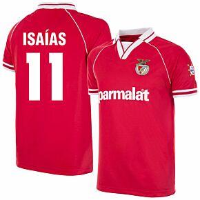 94-95 Benfica Home Retro Shirt + Isaías 11 (Retro Flock Printing)
