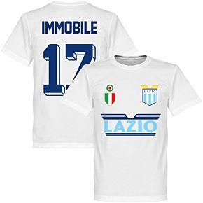 Lazio Immobile 17 Team T-Shirt - White