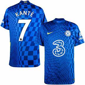 21-22 Chelsea Home Shirt + Kanté 7 (Premier League)