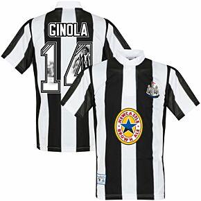 1996 Newcastle Home Retro Shirt + Ginola 14 (Gallery Printing)