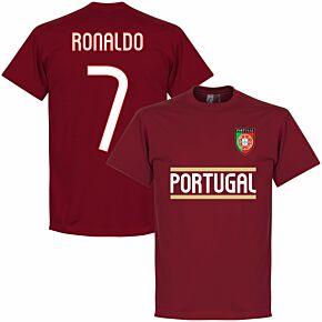 Portugal Ronaldo 7 Team KIDS Tee - Maroon