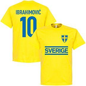 Sweden Ibrahimovic Team Tee - Yellow