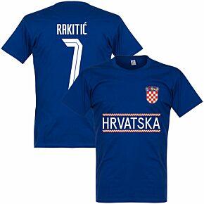 Croatia Rakitic 7 Team T-shirt - Ultramarine