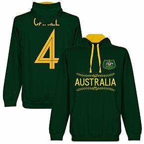 Australia Cahill 4 Team Hoodie - Forest/Gold