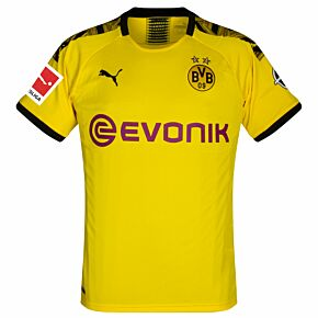 Puma Borussia Dortmund Home Jersey 2019-2020 inc Bundesliga Patch