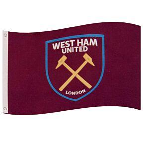 West Ham Core Crest Flag (152 x 91cm)