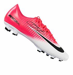 Eden Hazard Signed Nike Mercurial Vapor XI Boot - Pink/White
