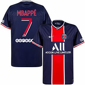 20-21 PSG Home Shirt + Mbappé 7