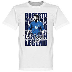 Baggio Legend Tee - White