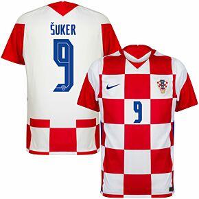 20-21 Croatia Home Shirt + Šuker 9 (Official Printing)