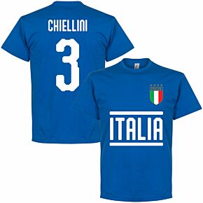 Italy Team Chiellini 3 KIDS T-shirt - Royal Blue