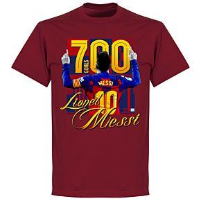Messi 700 Goals T-shirt - Chilli
