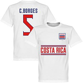 Costa Rica C. Borges 5 Team Tee - White