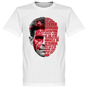 Gerrard Tribute Tee - White