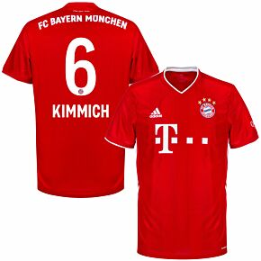 20-21 Bayern Munich Home Shirt + Kimmich 6 (Official Printing)
