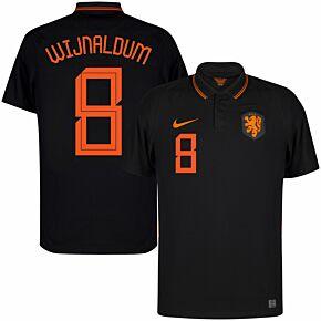 20-21 Holland Away Shirt - Kids + Wijnaldum 8 (Fan Style Printing)
