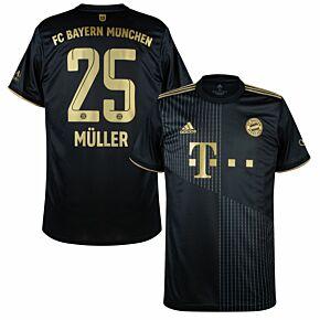 21-22 FC Bayern Munich Away Shirt + Müller 25 (Official Printing)
