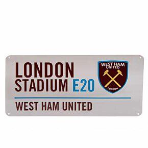 West Ham United Street Sign (40cm x 18cm)
