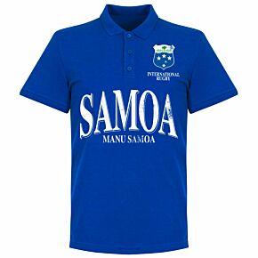 Samoa Rugby Polo Shirt - Royal