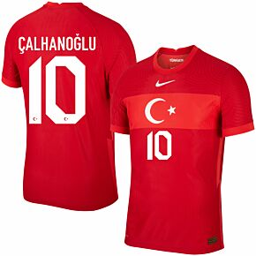 20-21 Turkey Vapor Match Away Shirt + Çalhanoğlu 10 (Official Printing)