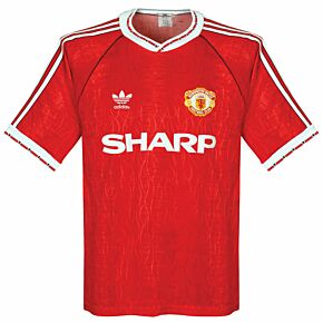 adidas Manchester United 1990-92 Home Shirt - USED Condition (Great) - Size M