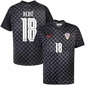 20-21 Croatia Away Shirt + Rebić 18 (Official Printing)