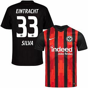 20-21 Eintracht Frankfurt Home Shirt + Silva 33 (Official Printing)