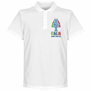 Italia Champions of Europe 2020 Polo Shirt - White